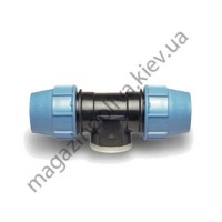 """Тройник для автополива Unidelta 63 мм. х 1 1/4"""" ВР х 63 мм."""